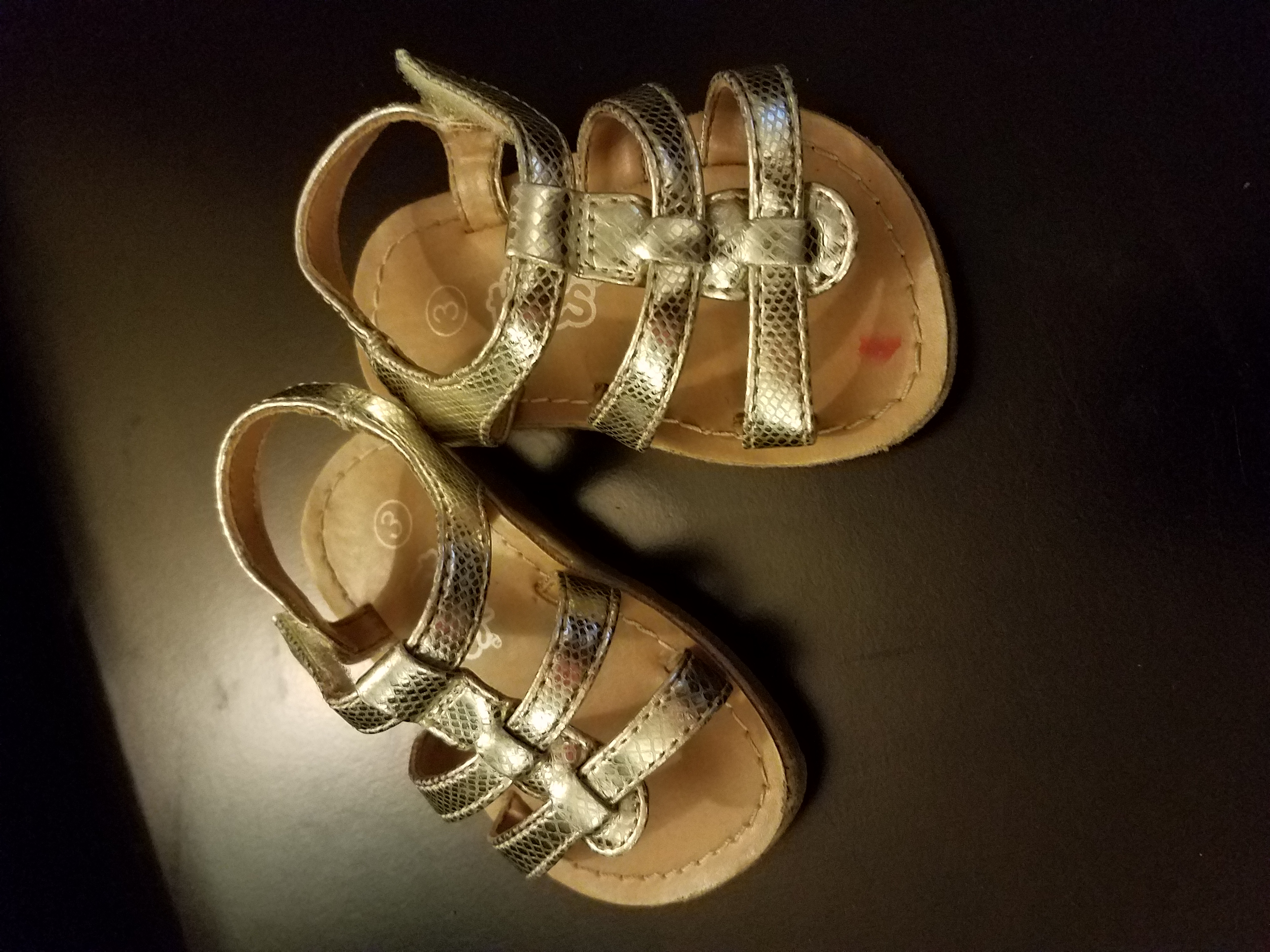 Teeny toes toddler 3 gold sandals