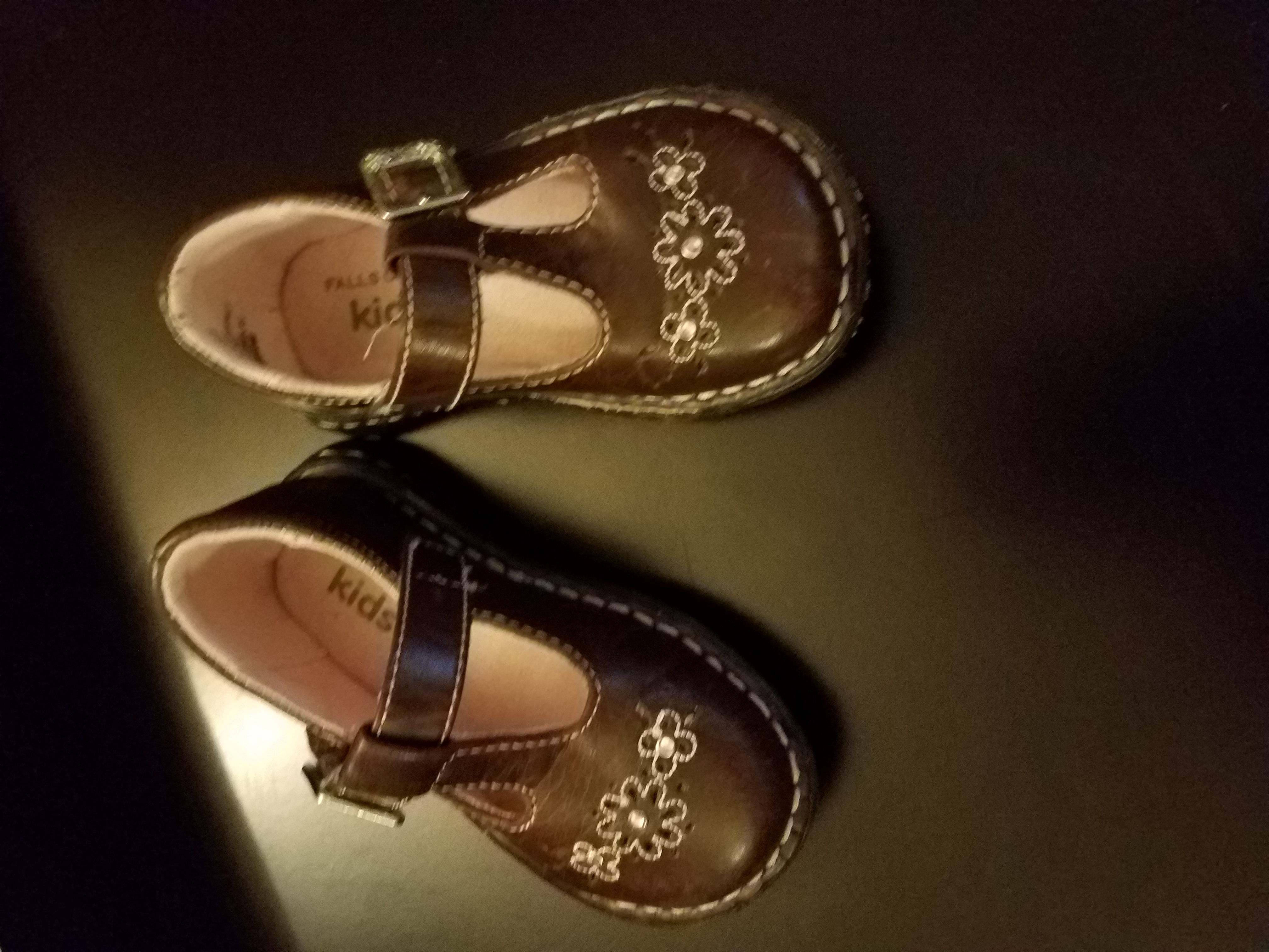Toddler size 5 brown dress shoes