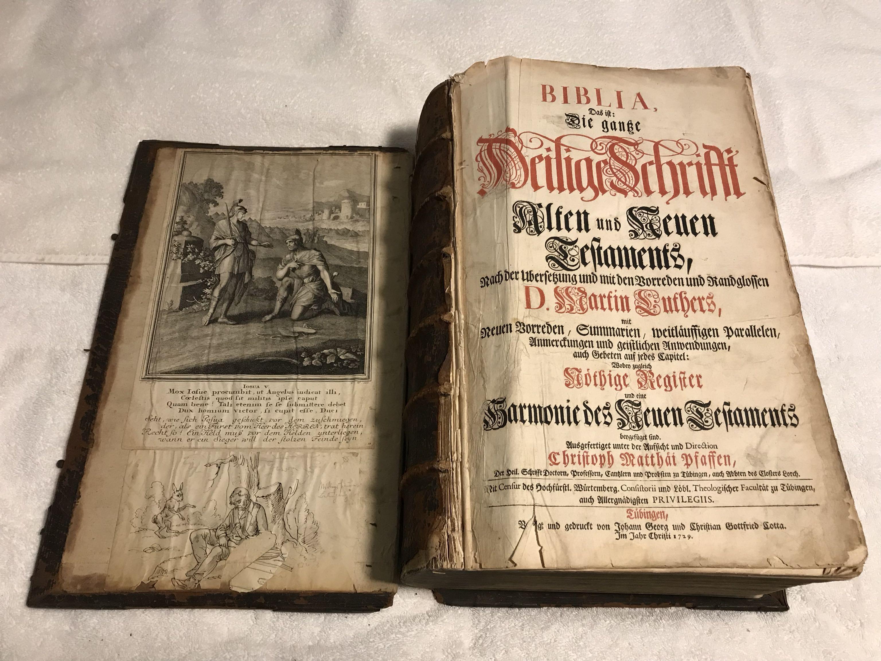 Nearly 300 year old Biblia, das ist: die gantze heilige schrifft alten und neuen testaments