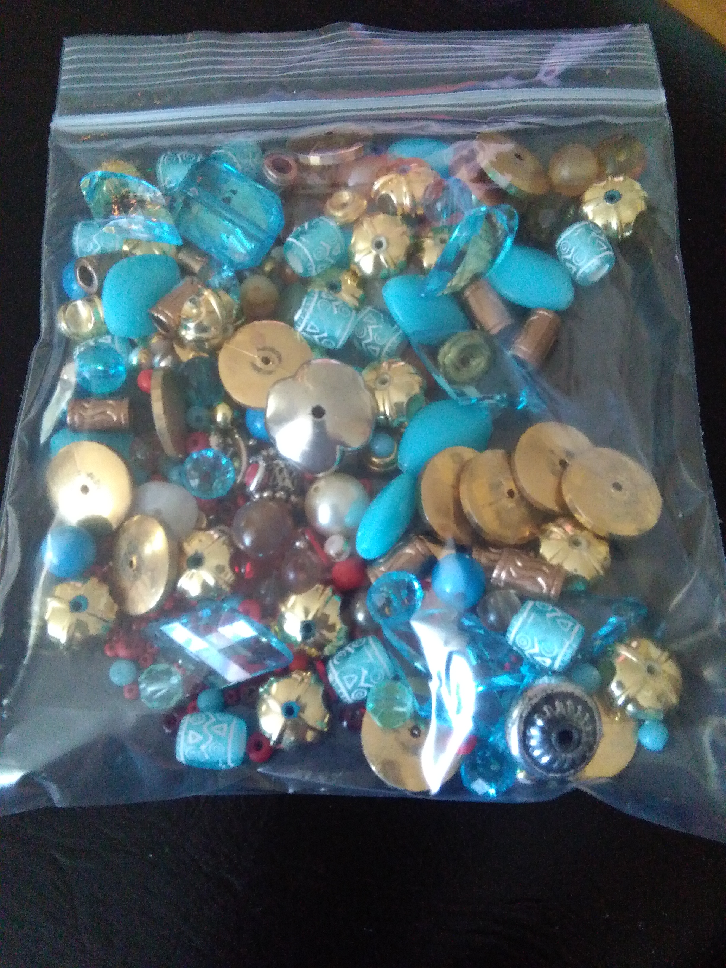 Bag of assorted beads