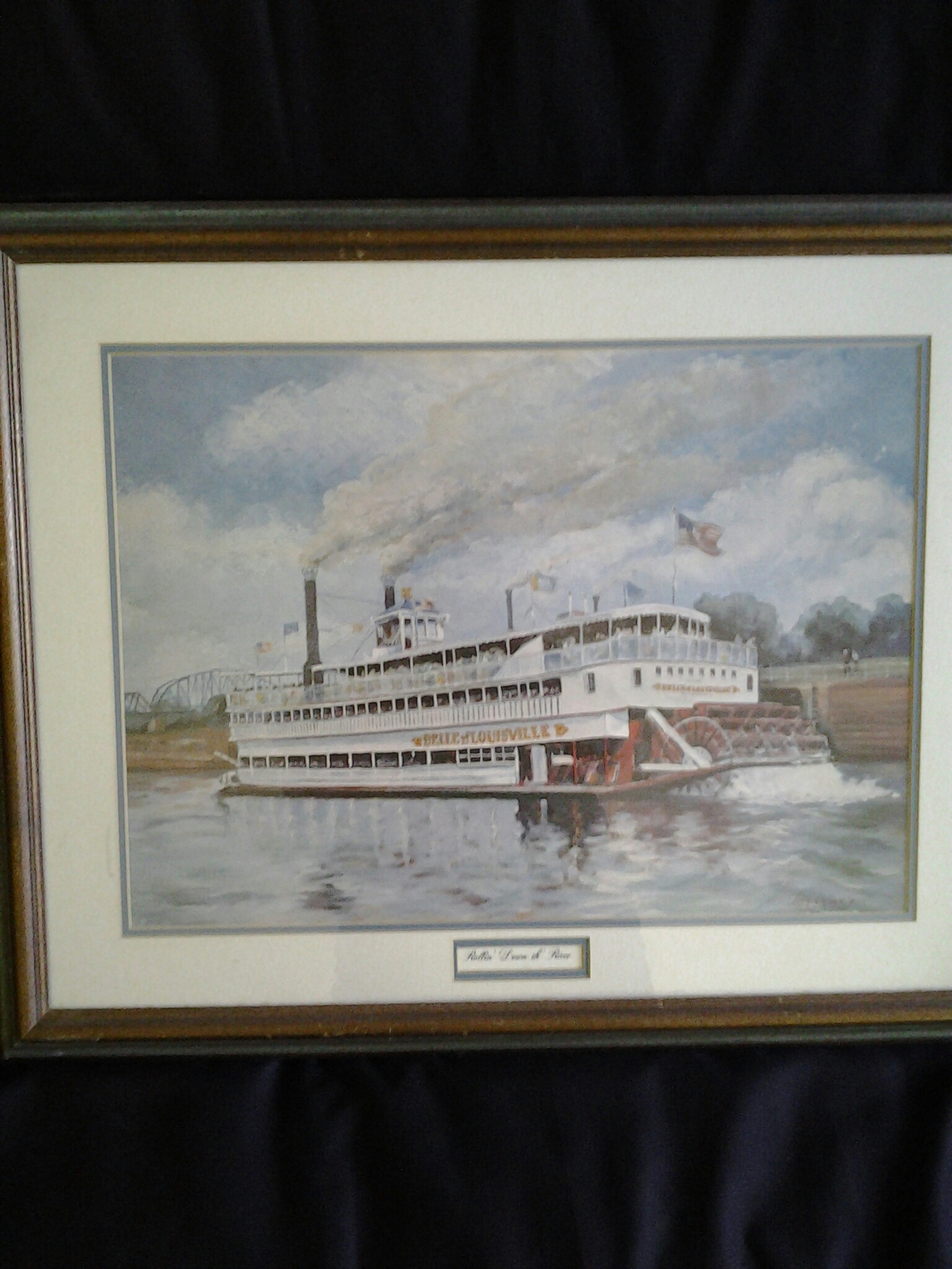 Bell of louisville painting/framed by Tony Oswald 76
