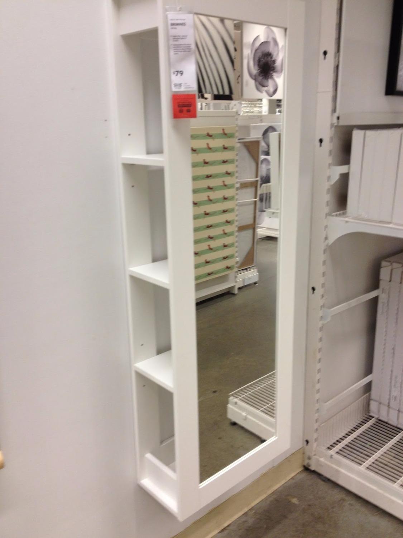 Floor standing mirror with storage