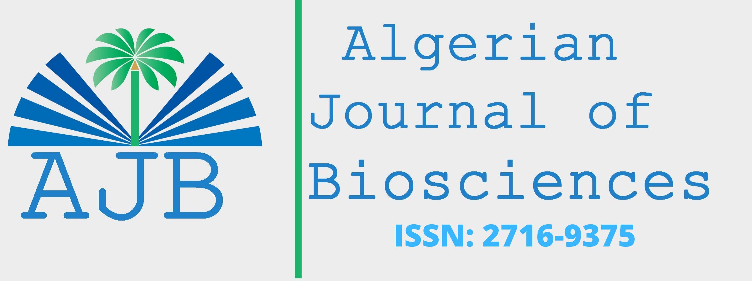 ALGERIAN JOURNAL OF BIOSCEINCES