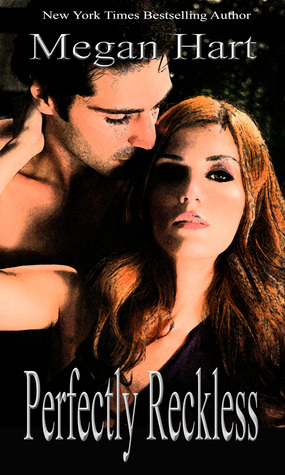 cover for Perfectly Reckless. A dark haired man stands behind a redhaired woman, kissing her temple