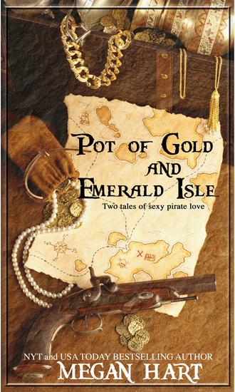 Pirate treasure map, gun and gold