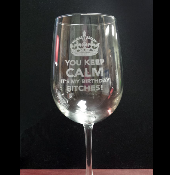 More Than Just Signs McNamara Signs - Custom vinyl stickers for wine glasses   for business