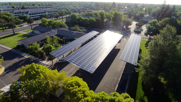 Ground Level Solar Parking Canopy