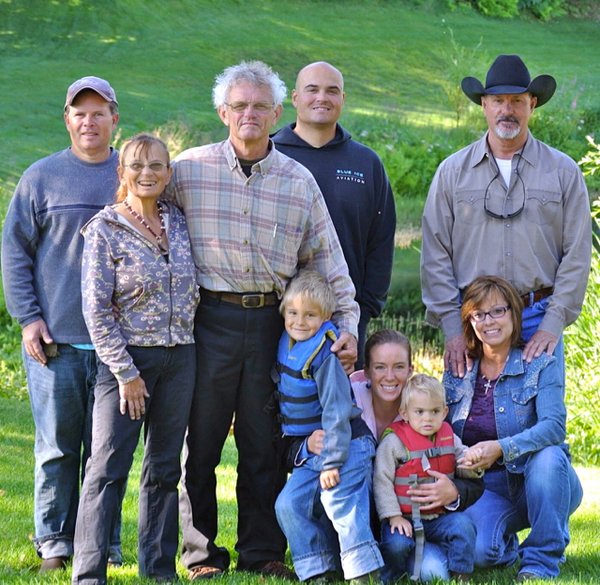 The Sidelinger Family at our Alaska Lodge.