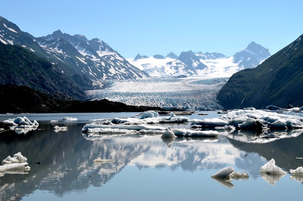 Grewingk Glacier, located in Alaska's Kachemak Bay State Park, across from Homer.