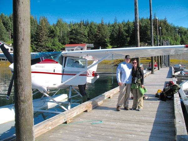 Getting ready for a Flight Seeing Tour in Kachemak Bay, Alaska.