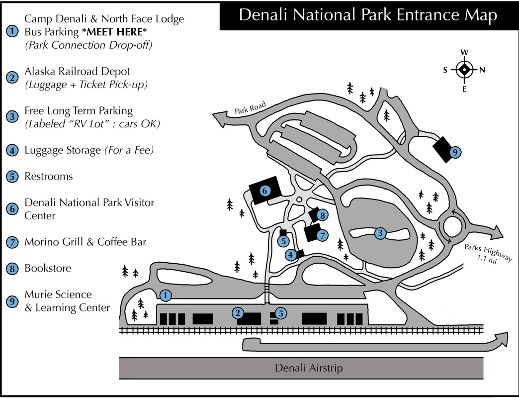 on denali hotels map