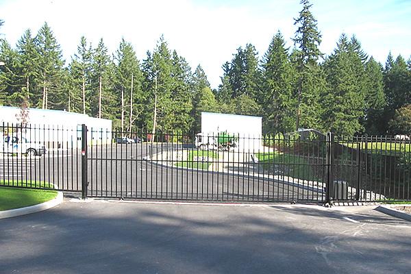Wrought iron perimeter commercial gates seattle wa
