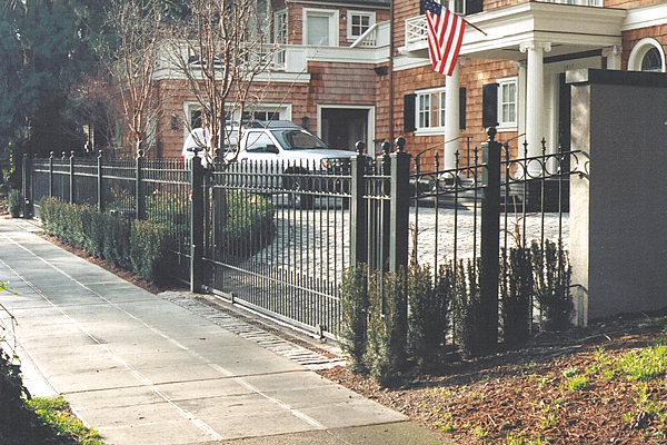 Elegant wrought iron home fencing commercial gates