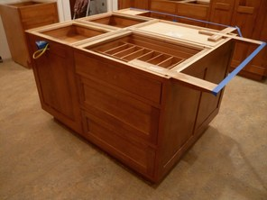 wood cabinet construction