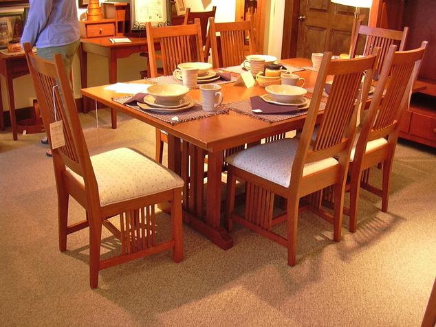 shaker mission craftsman dining room furniture