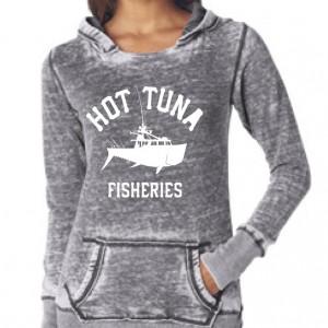 Women's Gray Boat Logo Hoodie