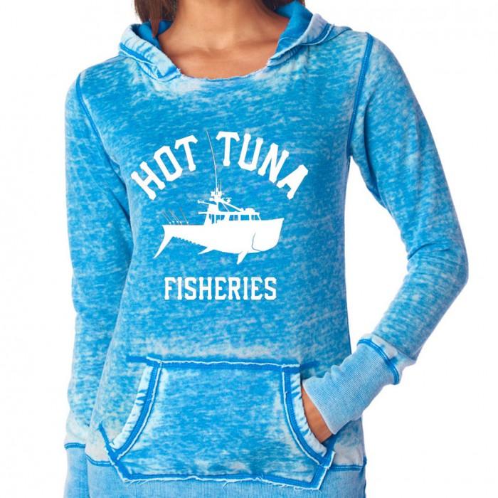 Women's Blue Boat Logo Hoodie