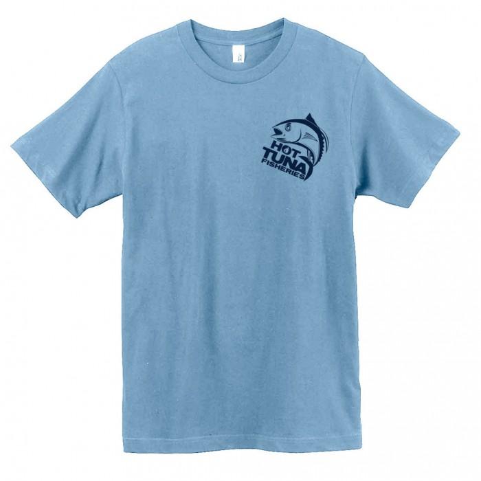 Men's Light Blue Logo Tee