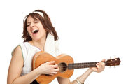 Girl-having-fun-playing-ukulele