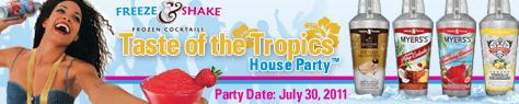 Freeze & Shake Frozen Cocktails Taste of the Tropics House Party