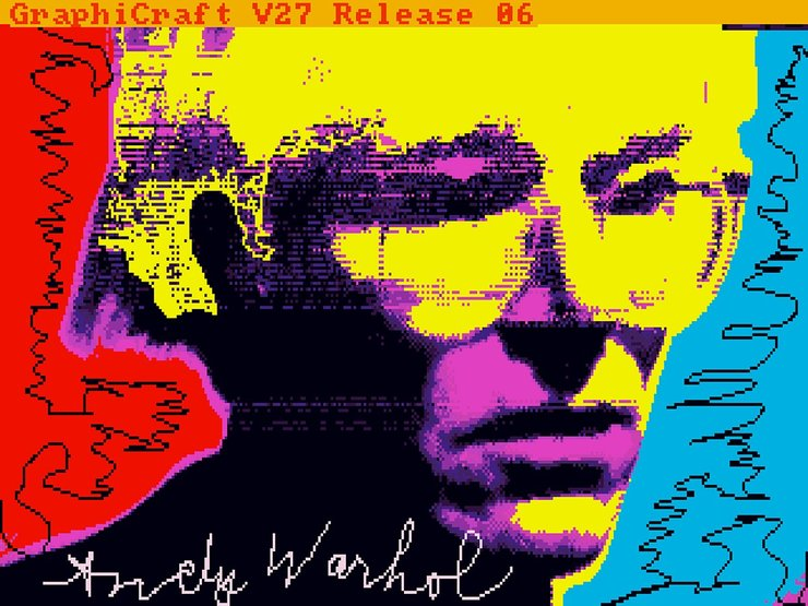 Trapped: Andy Warhol's Amiga Experiments (Part 2 of The Invisible Photograph documentary series) investigates how a team of computer scientists, archivists, artists, and curators teamed up to unearth Warhol's lost digital works. Image: Andy Warhol, Andy1,