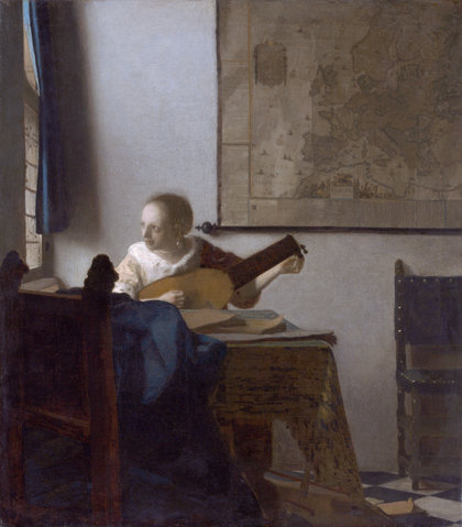 Woman-with-a-lute