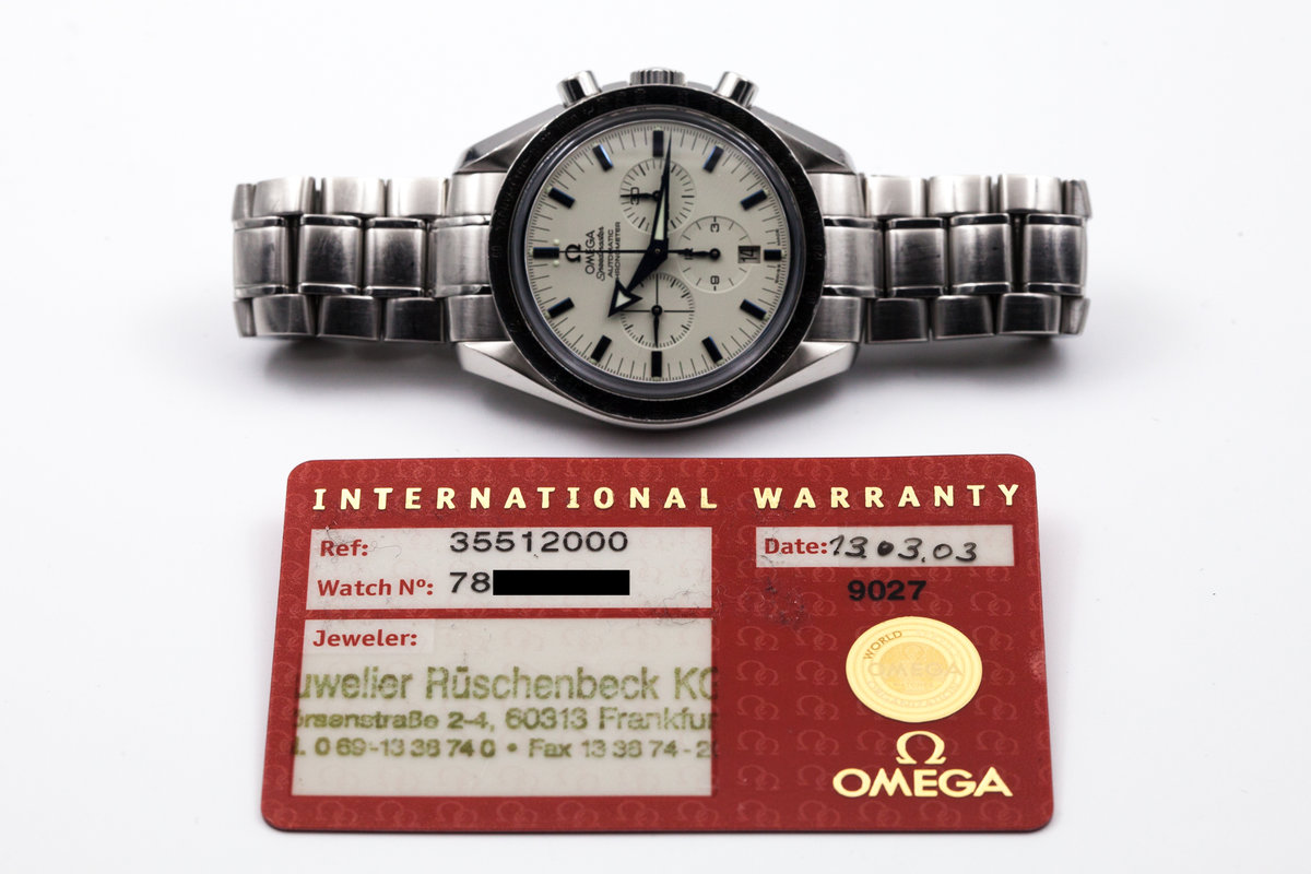 2003 Omega Speedmaster Broad Arrow Automatic 3551.20 with Card