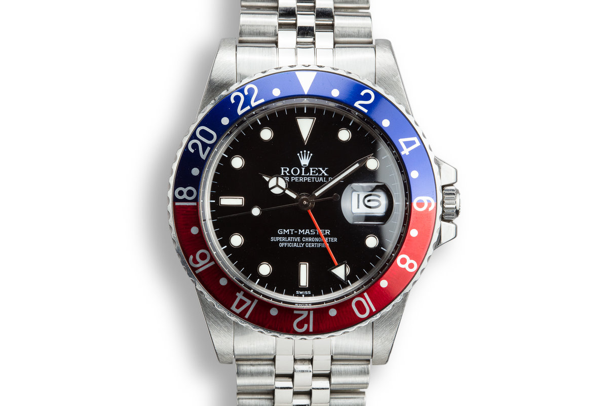 FS- Rolex 16700 A GMT Master Pepsi Swiss Only Holes Case