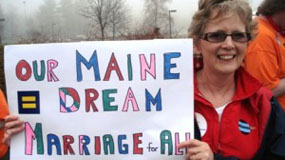 Marriage supporter in Maine