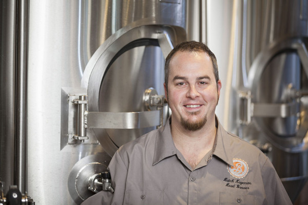 Hutch Kugeman is the new head brewer at the Brooklyn Brewery at the CIA