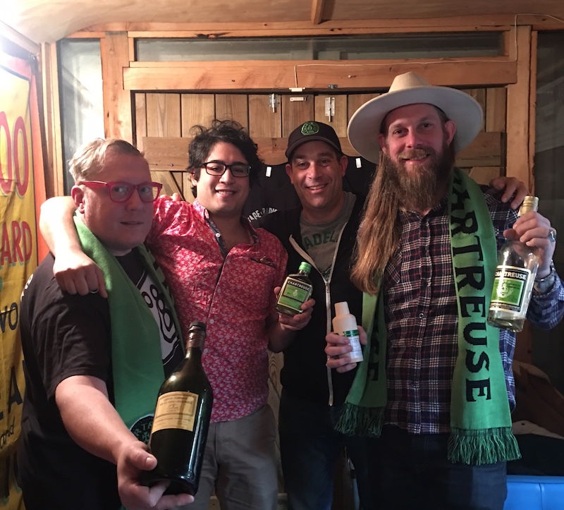 Tim Master and the Speakeasy crew (scarves and all)