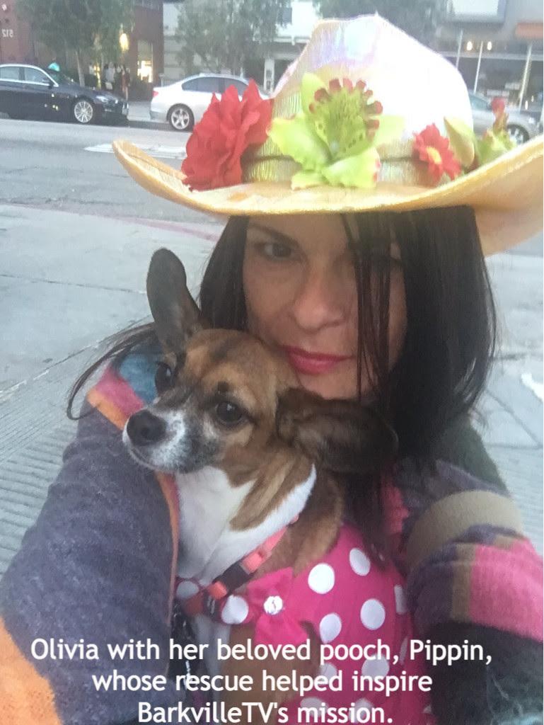 Olivia Barish with the faithful Pippin.