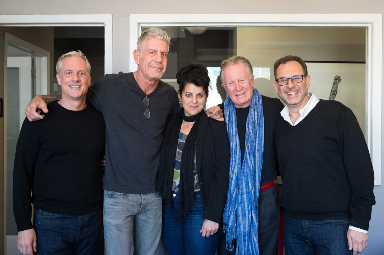Jimmy Bradley, Anthony Bourdain, Lydia Tenaglia, Jeremiah Tower, Andrew Friedman by Evan Sung