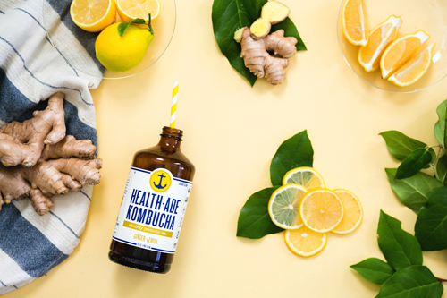 Health-Ade Kombucha Ginger Lemon - Michael Turkell