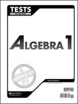 Algebra 1 Tests Answer Key 2nd Edition