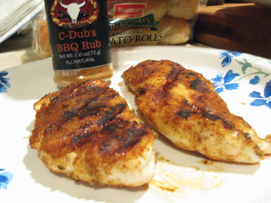 c-dubs rub on chicken breasts