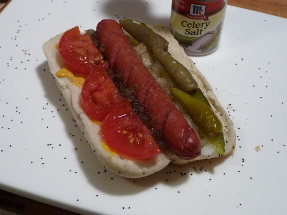chicago dog step 8 celery salt