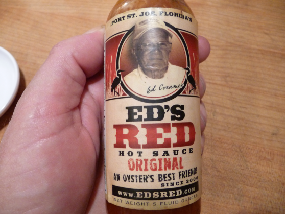eds red hot sauce label