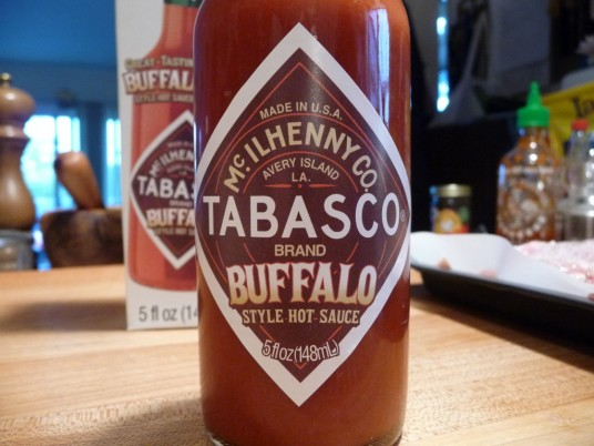 Classic Tabasco label on Buffalo Style sauce