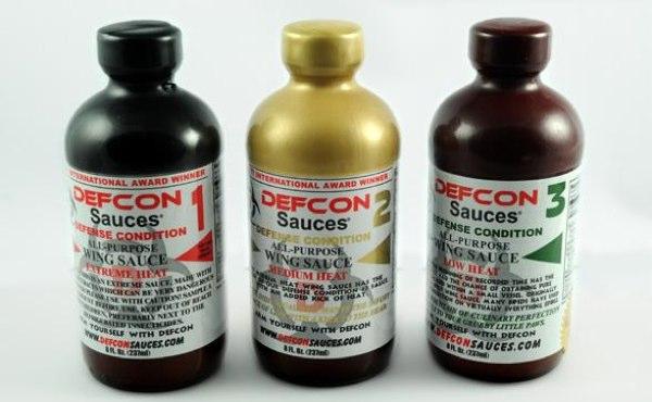 Defcon Wing Sauces trio