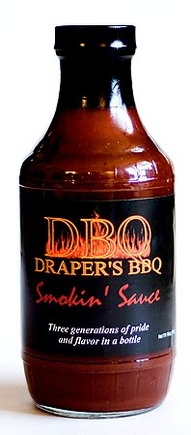 Drapers BBQ Smokin Sauce bottle