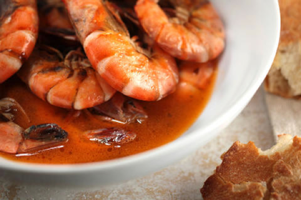 Chile roasted shrimp
