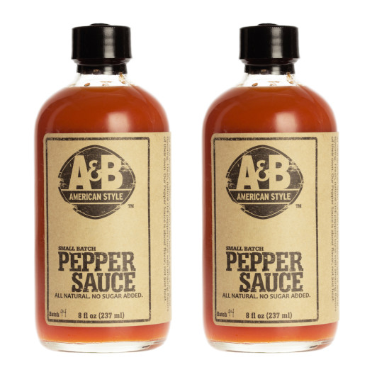A&B American Style Pepper Sauce bottles