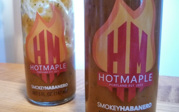 hot maple clear label closeup