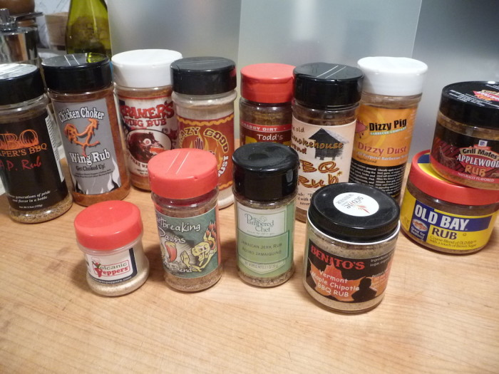 BBQ Rubs in bottles