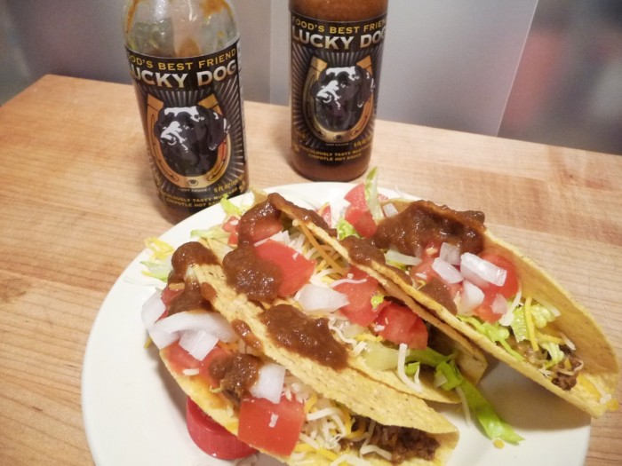 Lucky Dog Brown - a perfect taco sauce