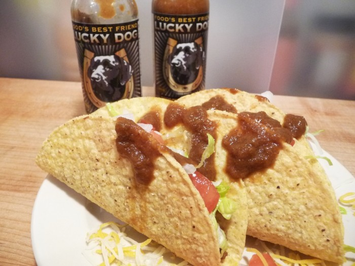 Tacos with thick, rich, LDHS Brown Label sauce