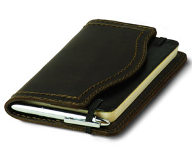 Full-Grain Leather Moleskine Cover