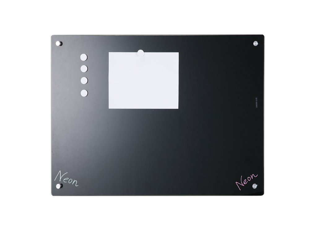 Magnetic Black Glass Dry-Erase Board