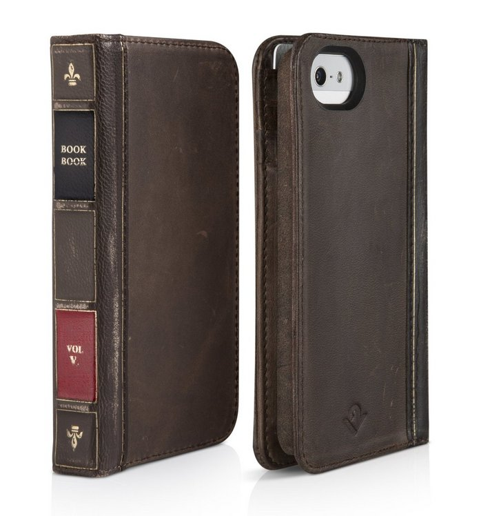 Leather Book iPhone 5 Case and Wallet
